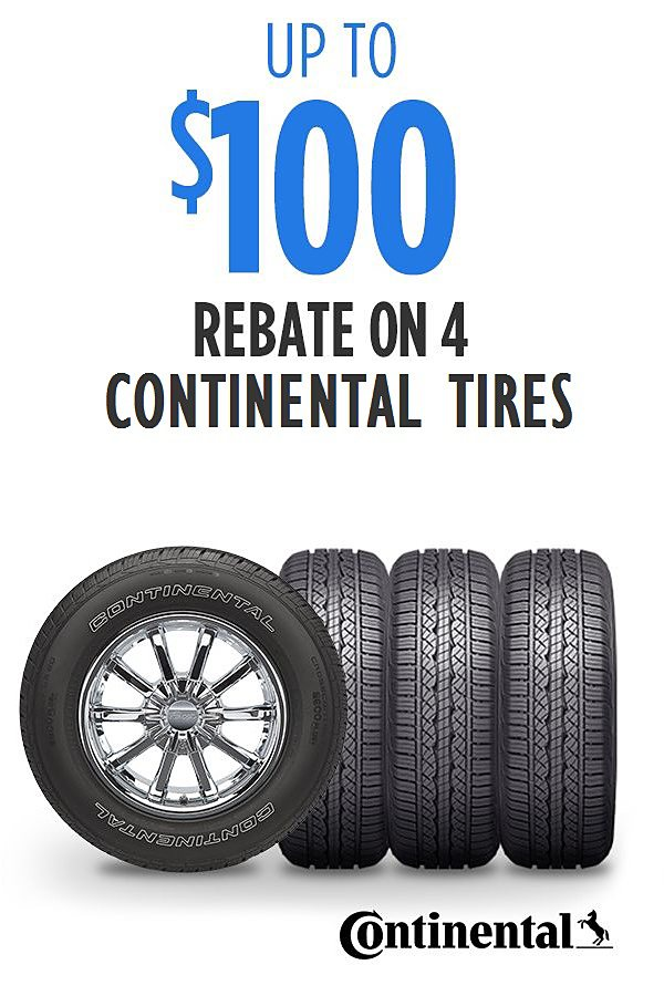 Get up to $100 rebate on 4 Continental tires PLUS Spend $100, Get $100 CASHBACK in points!  See details.