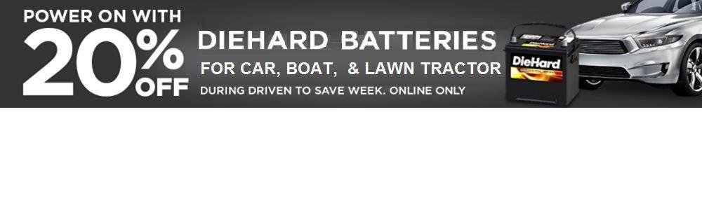 20% DieHard Batteries - online only