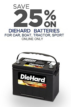 DieHard Batteries - 25% off