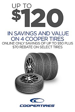 Cooper - Up to $120 savings & value on 4