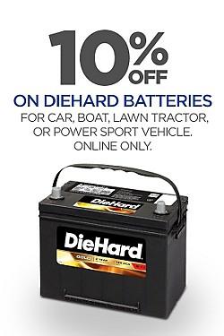 DieHard Batteries - Extra 10% off