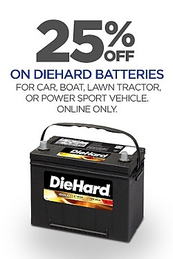25% off DieHard Batteries