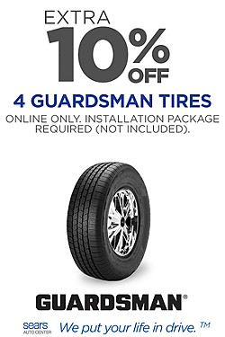 Extra 10% off Guardsman Tires