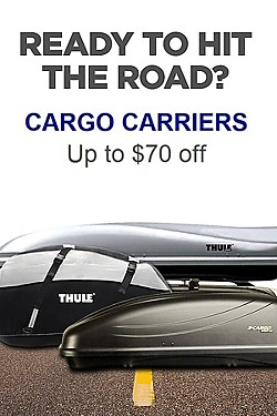 Save! Up to $70 off Cargo Carriers