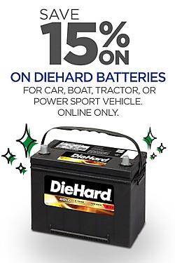 15% off DieHard Batteries
