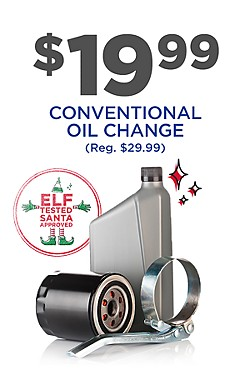 $19.99 Oil Change (reg $29.99) with code: 48252