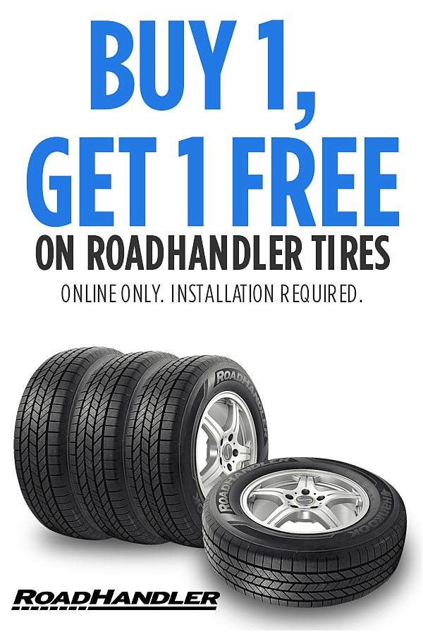 BOGO! Buy 1 RoadHandler tire, Get 1 Free. PLUS Cashback offer!  See Details.