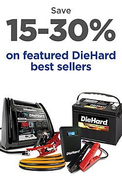 15-30% off DieHard Favorites