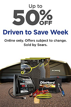 Save! Up to 50% off Automotive favorites during Driven to Save Week