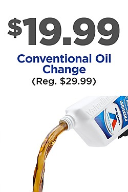 Conventional Oil Change only $19.99