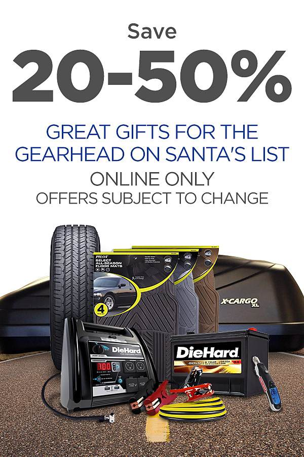Great automotive gift ideas at up to 50% off