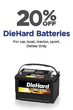 Save! 20% off DieHard Batteries!