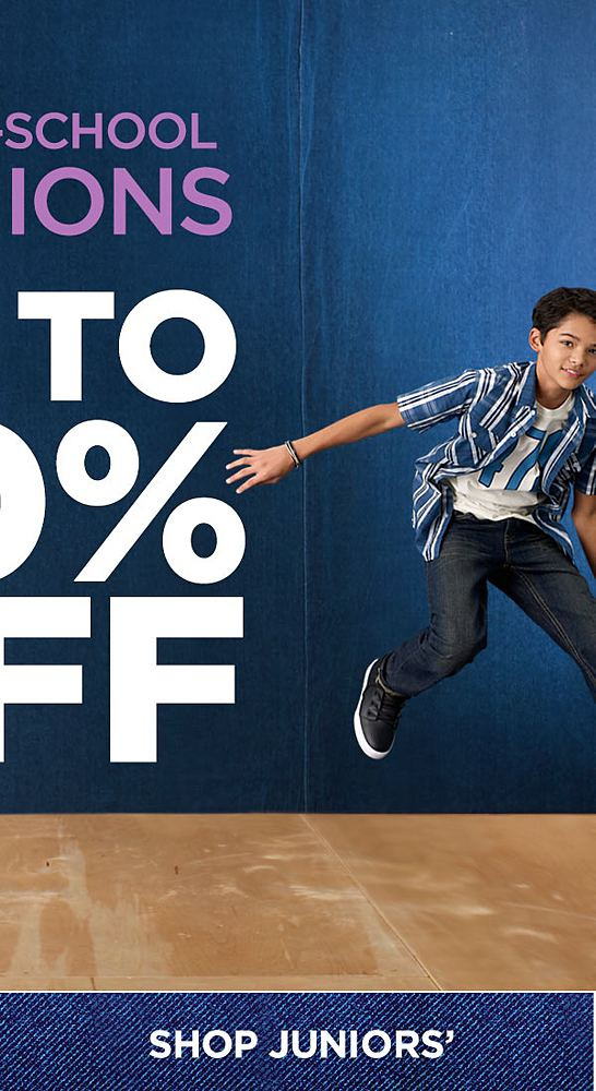 Shop Juniors' Back to School Fashions