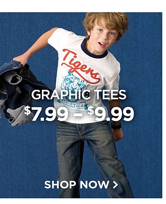 Graphic Tees $7.99 - $9.99