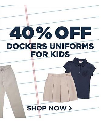 40% off Dockers Uniforms