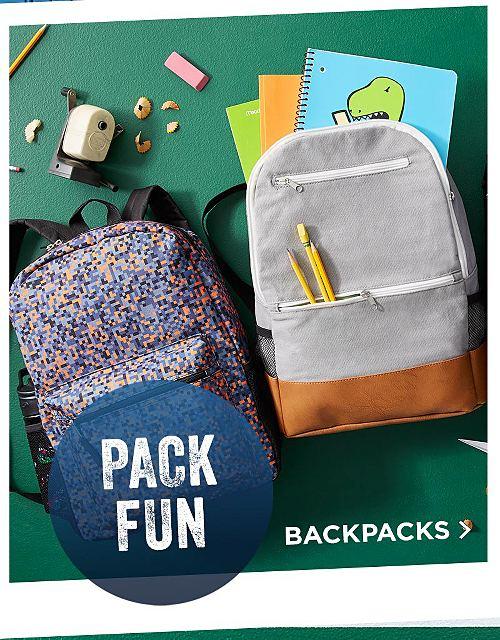Pack Fun! Shop Backpacks