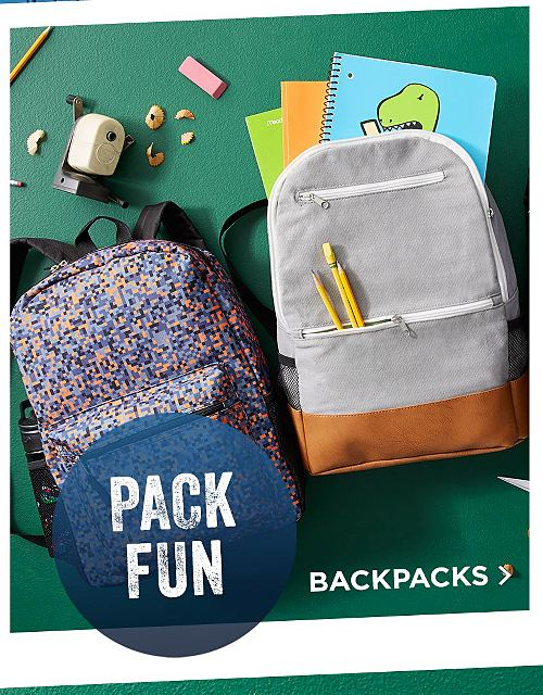 Pack Fun! Shop Backpacks