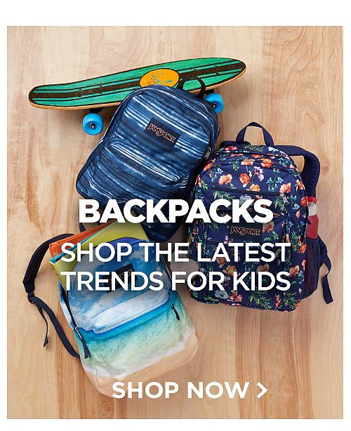 Backpacks! Shop the latest trends for kids