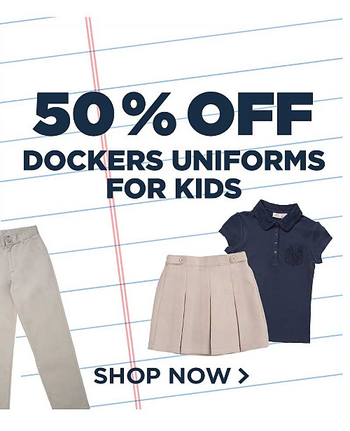 50% off Dockers Uniforms
