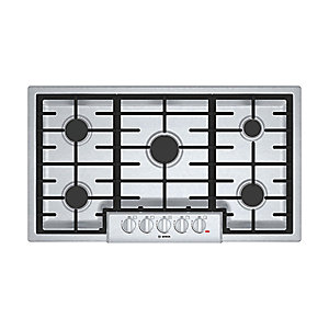 "Bosch 36"" 800 Series Gas Cooktop - Stainless Steel"