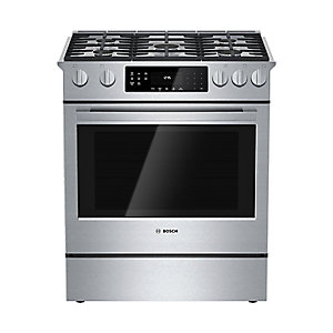 "Bosch 30"" 800 Series Gas Slide-In Range - Stainless Steel"