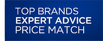 Top Brands, Expert Advice, Price Match