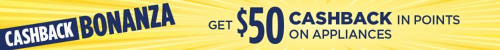 Get up to $50 cashback on appliances