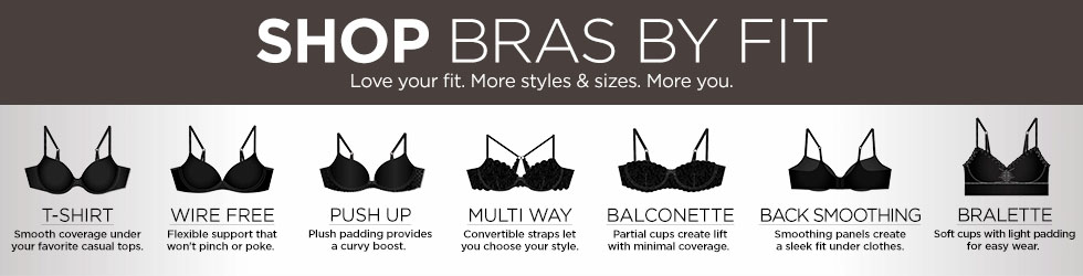 9baa78b010 Shop Bras By Fit. Love your fit. More styles   sizes.