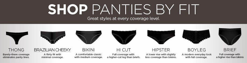 9e304306922 Shop panties by Fit. Great Styles at every coverage level.