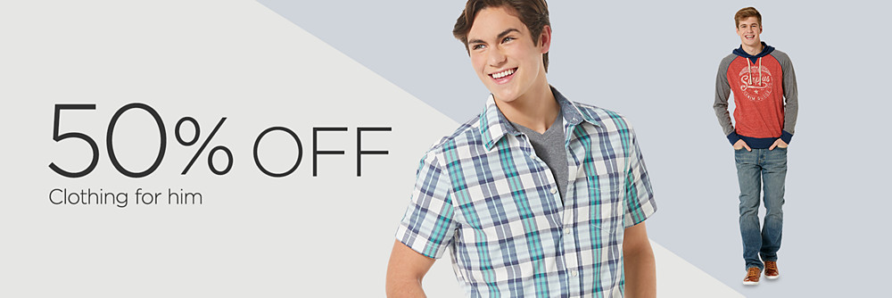 50% off Young Men's