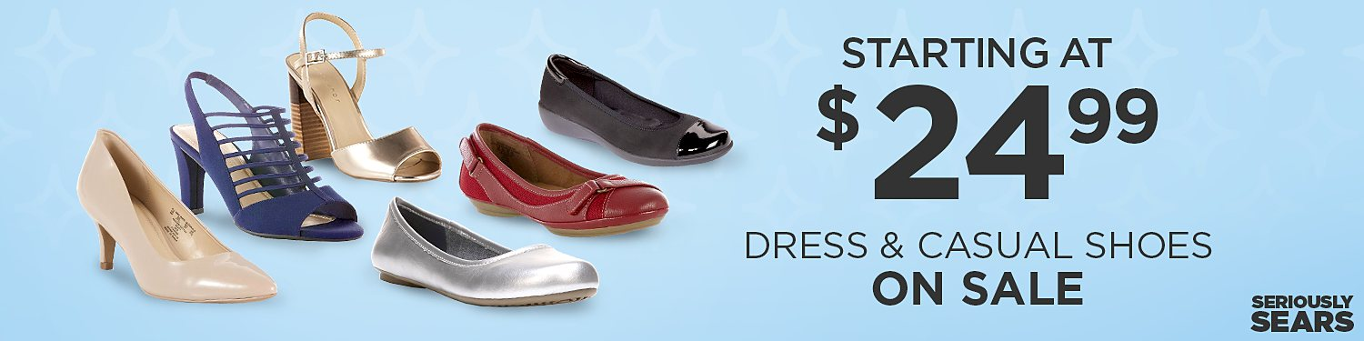 Women's dress & casual shoes starting at $24.99
