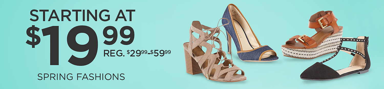 Starting at $19.99 women's spring fashions