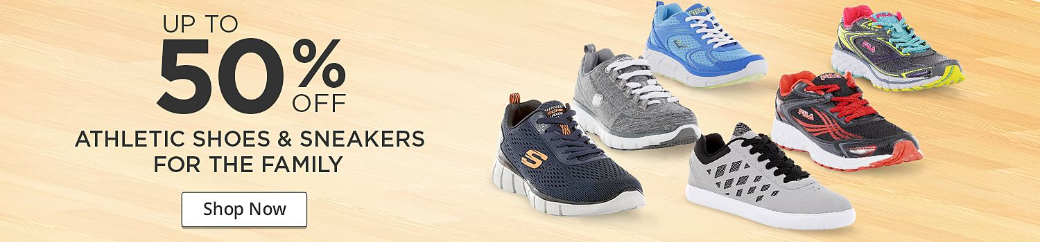 Up to 50% off athletic shoes for the family