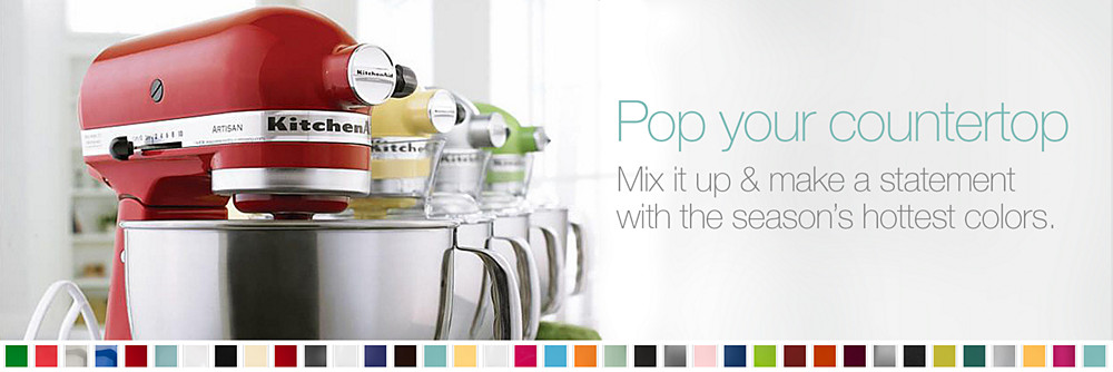 Stand Mixers Get Mixers In Every Color At Sears
