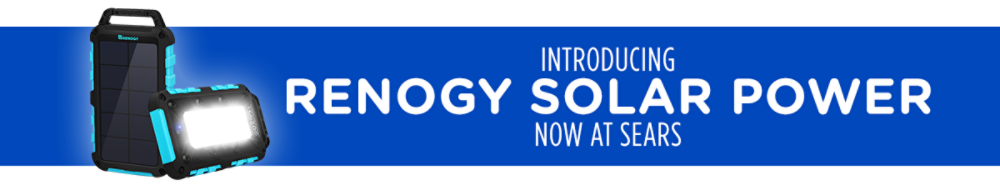 Introducing Renogy solar power now at Sears