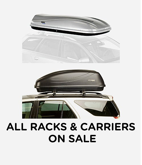 All racks & carriers on sale