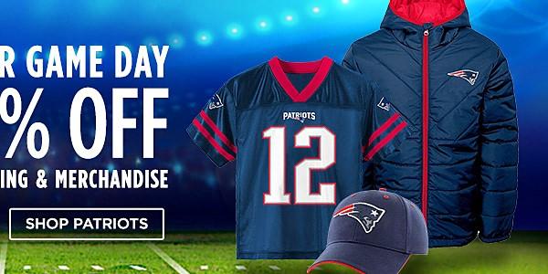 25-50% off NFL Clothing & Merchandise. Shop Patriots