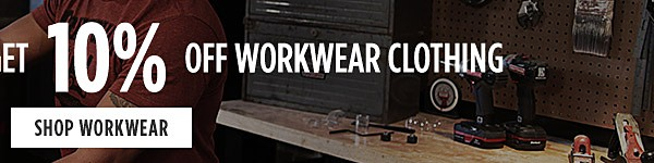 Online Only. Buy $10 in Tools, get 10% off workwear clothing. Shop Workwear