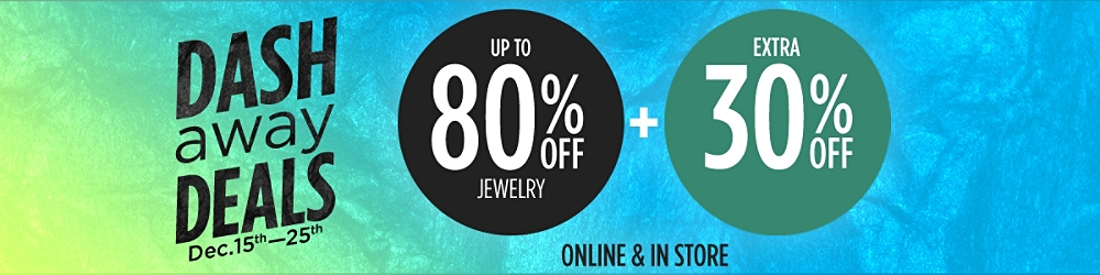 Up to 80% off jewelry +  Extra 30% off