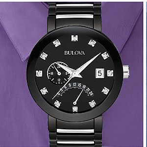 Bulova Men's Black IP Watch