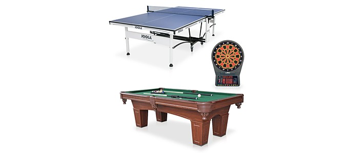 Have the best rec room on the block with pool tables, furnishings & more.