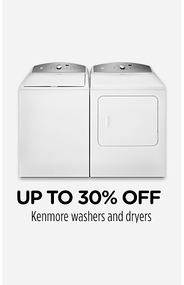 Up to 30% off Kenmore washers and dryers