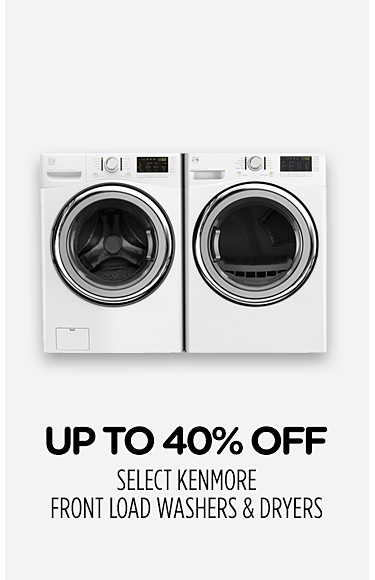 Up to 40% off select Kenmore front load washers & dryers