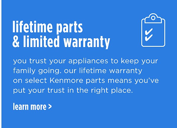 LIFETIME PARTS LIMITED WARRANTY