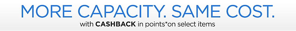 CASHBACK in points on select items