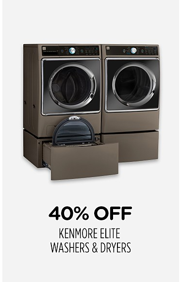 40% off Kenmore Elite washers & dryers