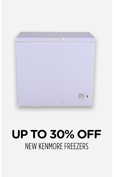 Up to 30% off new Kenmore freezers