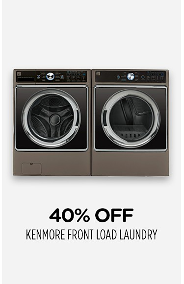 40% off Kenmore front load laundry