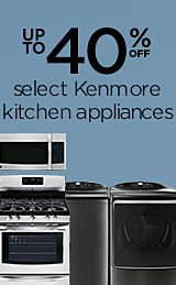 Up to 40% off Kenmore Kitchen appliances