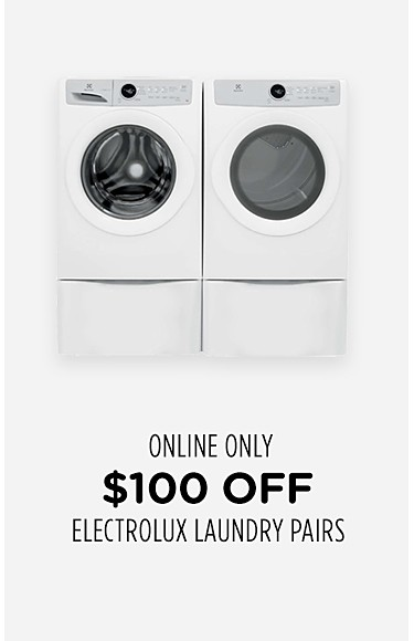 $100 off Electrolux laundry pairs